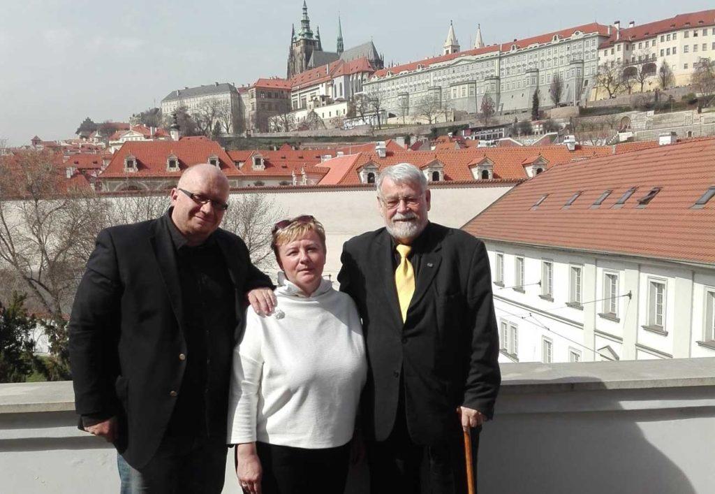 Mr. Rector Petr Jan Pajas and Mrs. Eva Rivera visiting Prauge